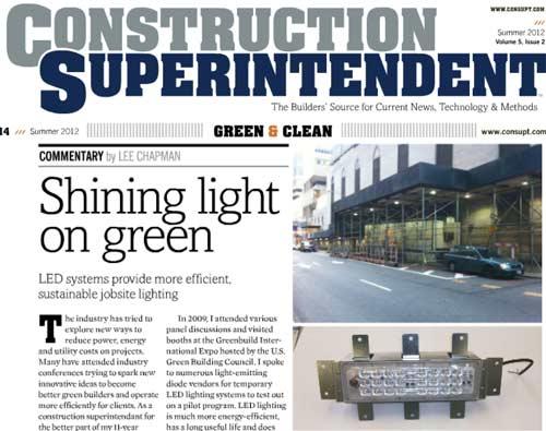 Construction Superintendent: LED Jobsite Lighting